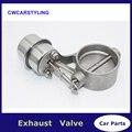 Conjunto de válvula de corte de acero inoxidable de 3 ''76 MM con actuador de vacío de estilo cerrado