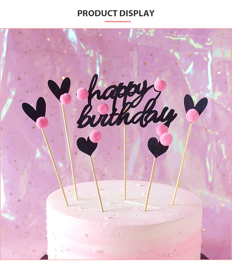 Fantastic Happy Birthday Cake Topper Cute Ornaments Cake Valentines Day And Funny Birthday Cards Online Alyptdamsfinfo