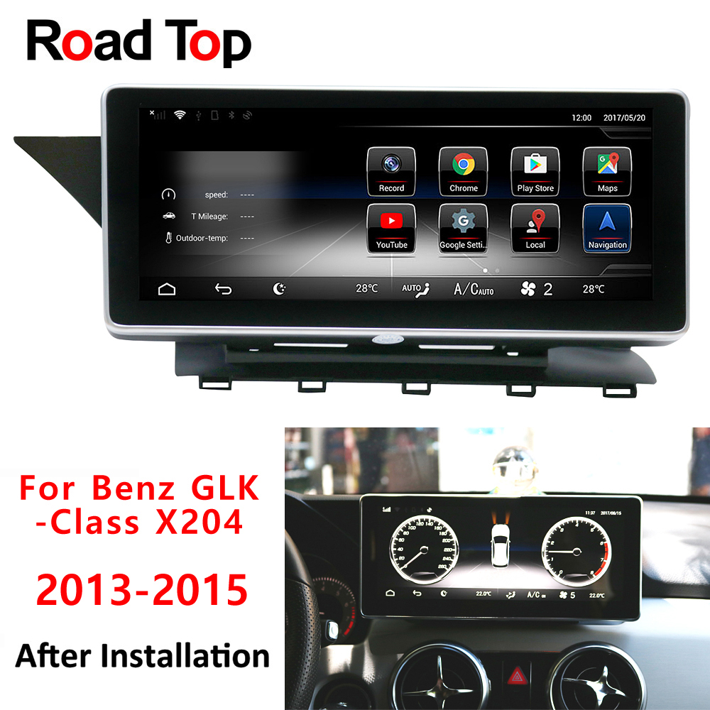 android display for mercedes benz glk x204 2013 2015 inch touch screen gps navigation. Black Bedroom Furniture Sets. Home Design Ideas