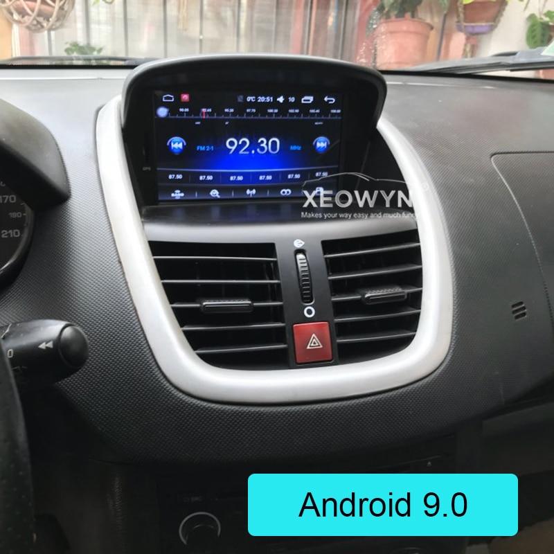 7 Android 9,0 Автомобильный DVD стерео для peugeot 207 2007 2014 автоматическое радио GPS навигация Аудио Видео DAB + WiFi 1 Гб ram