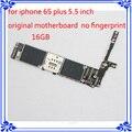 16 gb 100% de desbloqueo de fábrica placa madre para iphone 6 s plus 5.5 pulgadas sistema ios original placa lógica placa base sin huellas dactilares