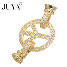 Jewellery Making Supplies Fashion Geometric Connctors For Jewelry Making Copper Clasp Beads For Bracelets Diy Fermoirs Bijoux