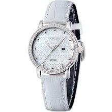 Ochstin 2016 Blanco de Lujo de la Marca Mujeres Del Reloj de Moda A Prueba de agua Calendario Correa de Cuero Relojes Para Mujeres Relojes Clásicos Horloge