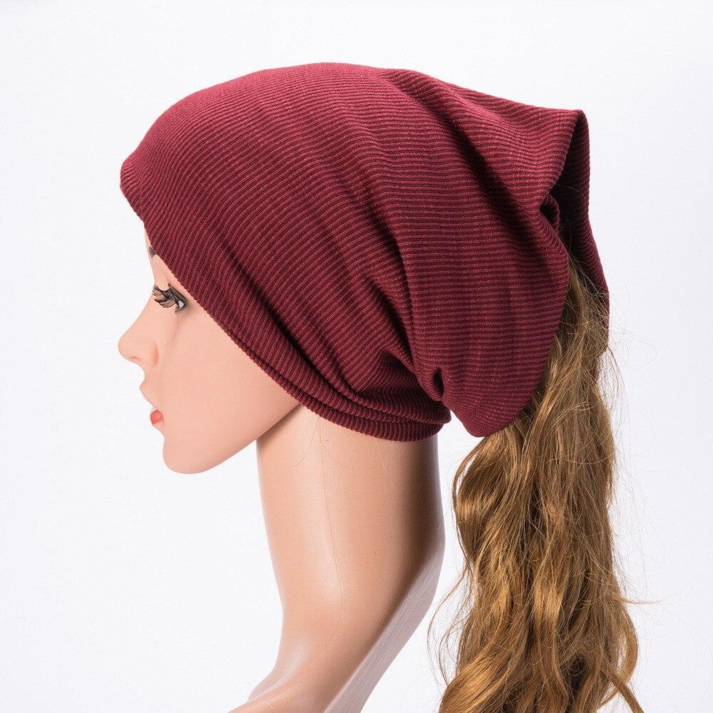 Frugale Uomo Donna Warm Baggy Weave Crochet Del Knit Di Inverno Berretti Da Sci Cappello Sciarpa Neckerchif 17dec15