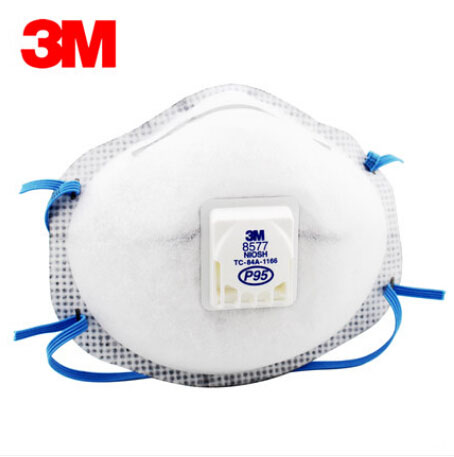 3M 8577 Respirator PM2.5 P95 Masks Acid Anti-particles Smell Dust Mask Secondhand Smoke Safety Mask  H012815 3m 6300 6003 half facepiece reusable respirator organic mask acid face mask organic vapor acid gas respirator lt091