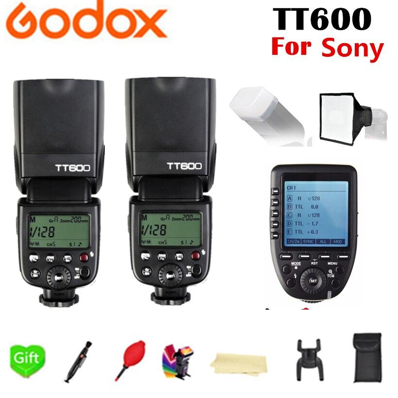2X Godox TT600 TT600S Flash X System GN60 2.4G Wireless TTL HSS Flash Speedlite + Xpro-S Transmitter Trigger For Sony Camera2X Godox TT600 TT600S Flash X System GN60 2.4G Wireless TTL HSS Flash Speedlite + Xpro-S Transmitter Trigger For Sony Camera