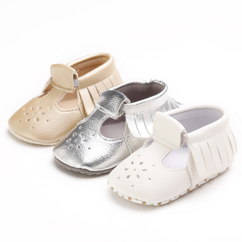2018 summer new pu leather baby moccasins shoes baby boys girls T-bar fashion shoes first walkers soft sole baby shoes