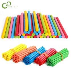 100 stücke Bunte Bambus Zählen Sticks Mathematik Montessori Lehrmittel Zählen Stange Kinder Vorschule Mathematik Lernen Spielzeug GYH