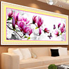 3D DIY Paintings Cross Stitch Embroidery Butterflies And Magnolia Flower Painting Cross Stitch Kits Home Decor