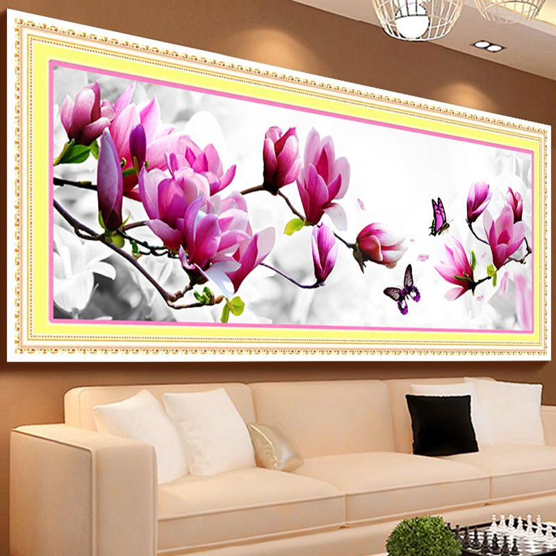 3D DIY Paintings Cross Stitch Embroidery Butterflies And