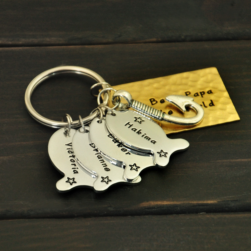 Christmas Gift For Dad.Daddy Keychain Father S Day Gift Dads Best Catch Fishing