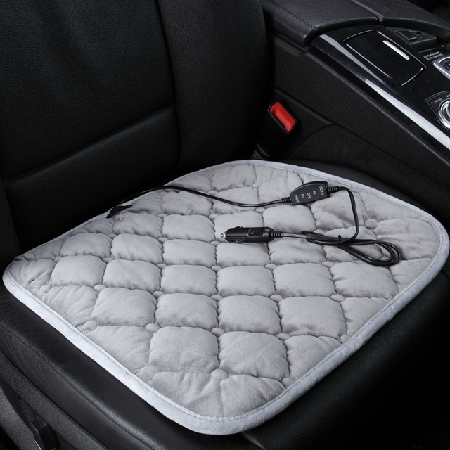 Winter Heated General Car Seat Chair Pad Quadripartite Thermal Plush Heating Cushion Sets