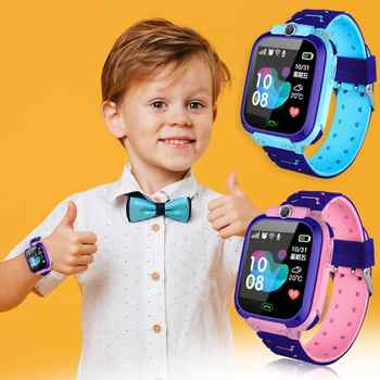 Children Smart Watch Camera Lighting Touch Screen SOS Call Touch Screen LBS Tracking Location Finder Kids Baby Smart Watch - DISCOUNT ITEM  26% OFF All Category