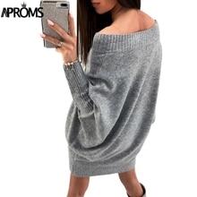 Aproms New Autumn Winter Crochet Sweater Dress Womens Casual