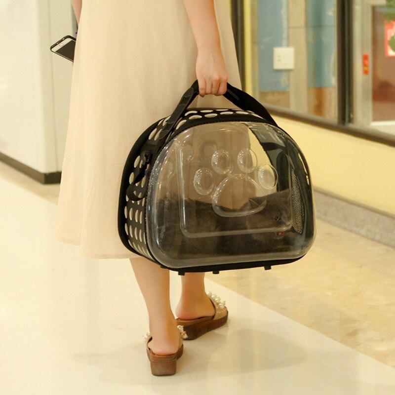 Petminru Transparent Cat Dog Carrier Bag Breathable Pet Travel Handbag Foldable Outdoor Shoulder Bags Puppy Travel Carrying Bags #5