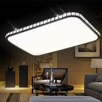 Retângulo conduziu a luz de teto luzes da sala estar moderna breve lâmpada cristal lâmpadas iluminação