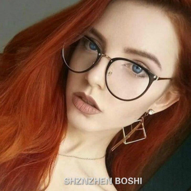 2020 Women Fashion Myopia Eyeglasses Frames Trend Men Eyeglasses frame Metal Spectacles Clear Lenses Women's Glasses