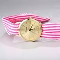¡ Caliente! damas Raya Tela Floral fabric watch reloj de pulsera de moda mujer reloj de vestir de alta calidad dulce de las muchachas reloj