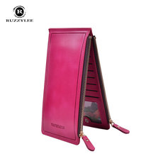 Long Zipper Women's Purse Leather Women Wallet 2016 New Real Womens Wallets And Purses For Female Carteras Mujer Card Holder