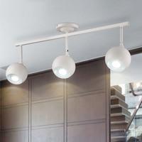 bar lamp ceiling led track lamp creative clothing shop LED spotlight background long white ceiling lights spot light fixture