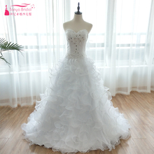 TANYA BRIDAL Princess White Puffy Ball Gowns Bridal Gowns