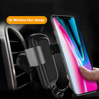 Car Mount  Wireless Charger For iPhone X 8 Plus Quick Charge Fast Wireless Charging Pad Car Holder Stand For Samsung S6 S7 S8