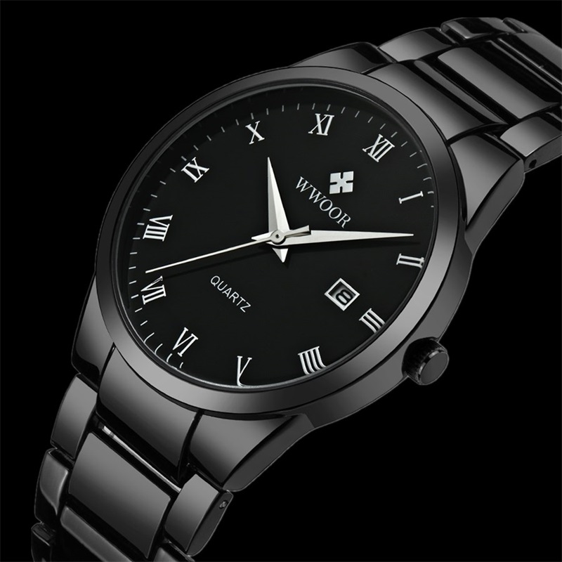 2017 Simple Top Brand Luxury Men Stainless Steel Waterproof Sports Watches Men's Quartz-watch Clock Male Black Strap Wristwatch pos all in one nice quality hot sales 12 inch touch cash register pos machine 58mm receipt printer cash drawer barcode scanner