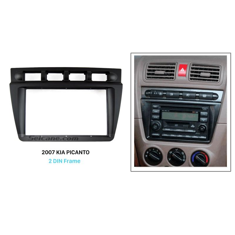 цена на Seicane Double Din Car Radio Fascia for 2004-2008 KIA PICANTO Autostereo Adapter CD Trim Installation Panel Frame Seicane