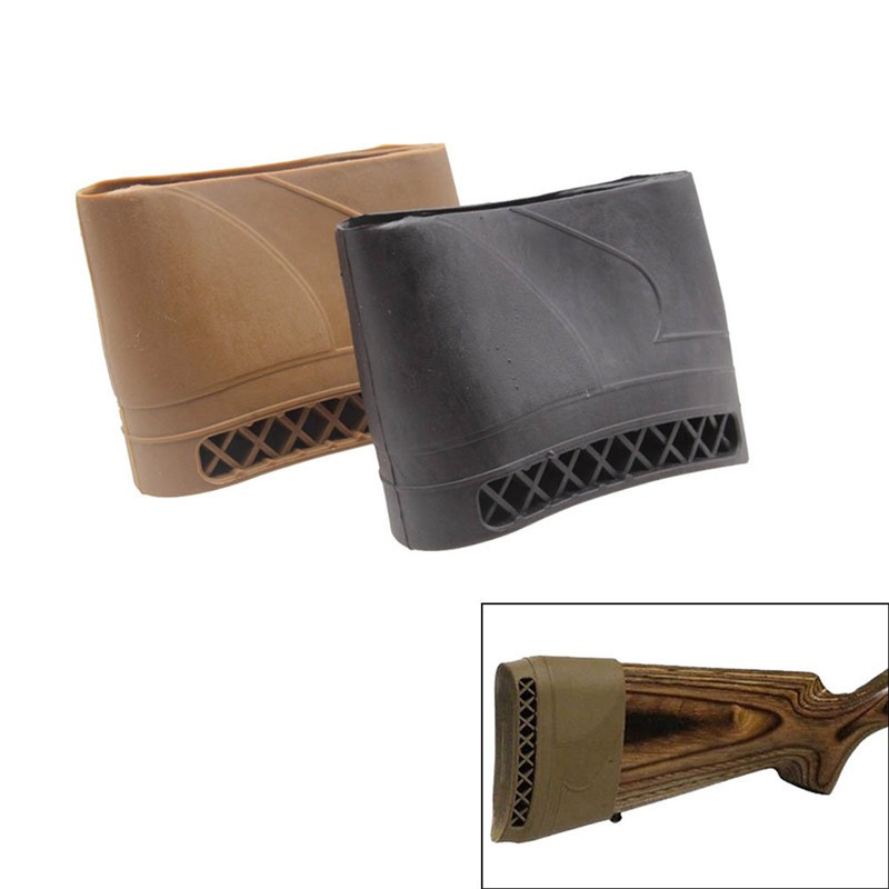 Rifle Shotgun Slip on Rubber Recoil Pad Butt Gun Protect Stock Tactical Hunting