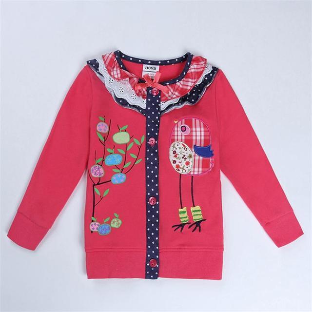 NOVA 2016 children outerwear cotton Hooded coats children's winter clothing Girls Down for girls Fashion