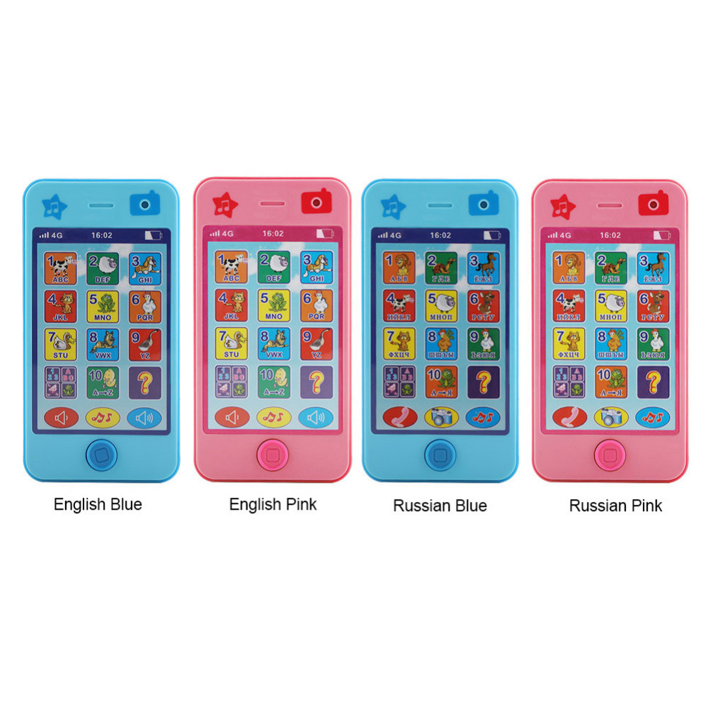 Infant Baby Educational Kids Phone Toys Music Mobile English//Russian Language