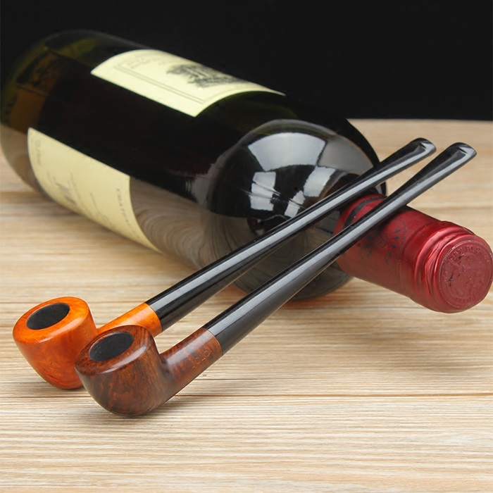 Long mouth Tobacco smoking pipe wooden Long straight tobacco pipe Briar Tobacco Pipes & Accessories Father's day gift