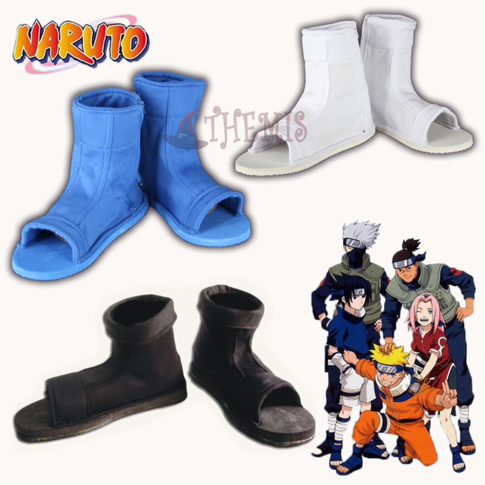 MMGG Anime Ninja Cosplay Shoes Comfortable Cosplay Boots Unisex Black Blue White Color