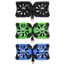 Осьминог вентиляторы cooler двойные охлаждения порт вентилятор pad ноутбук дюймов led