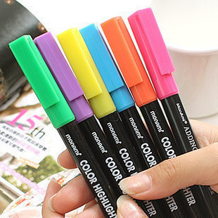 Stationery multicolour neon pen marker pen
