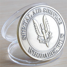 NEW Kill Or Capture - Special Air Service SAS Who Dares Wins Bronze Challenge Coin, free shipping,