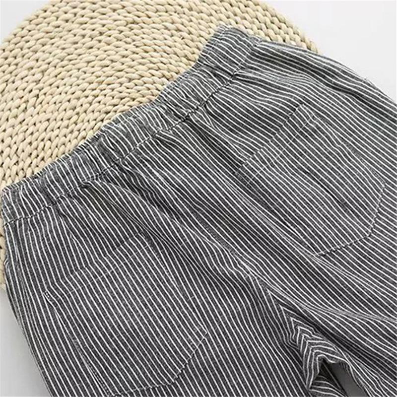 Bigsweety Cotton Linen Women Casual Pants 18 Fashion Loose Long Pants Elastic Waist Straight Striped Trousers Pantalon 8