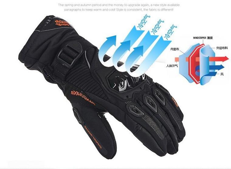 100 Waterproof Pangusaxe Motorcycle Gloves Warm Motor