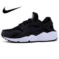 Оригинальный Nike Оригинальные кроссовки Air Huarache; нескользящая подошва; защита от амортизацию Для женщин обувь для бега Легкая спортивная обу