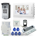 """Casa Nueva 7 """"Pantalla TFT Monitor de Videoportero Intercom Kit 1 Blanco + 1 Cámara + 180 kg Cerradura Magnética de Acceso RFID ENVÍO GRATIS"""