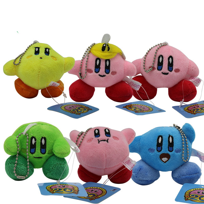 1pcs 7cm Cute Kirby Plush Toys Keychains Kirby Plush Toys Key Chains Kirby Game Character Soft Stuffed Toy Gift for Children image