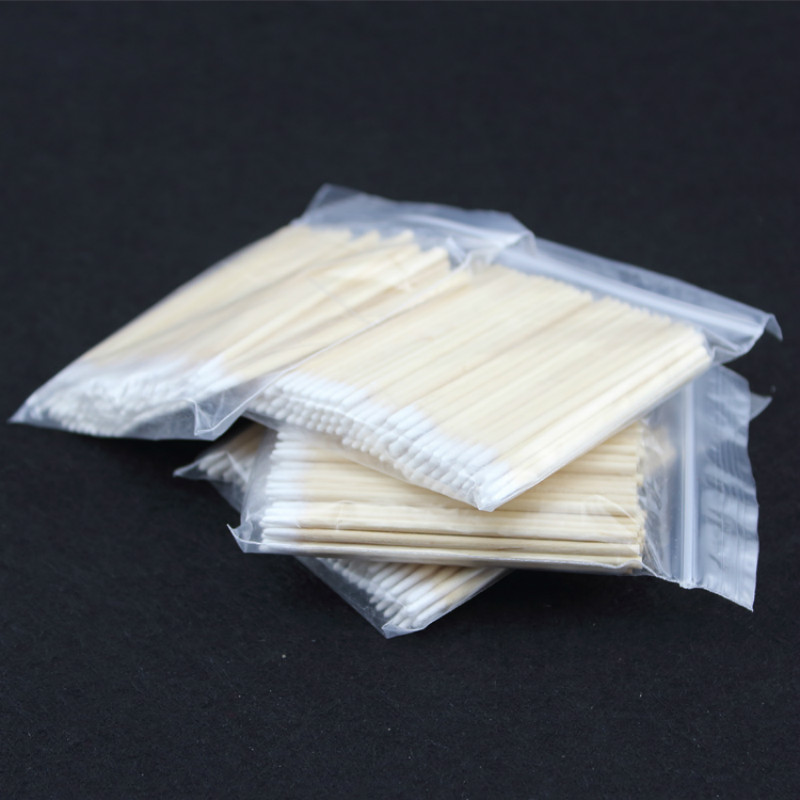 Image 3 - 100pcs Wooden Cotton Swab Cosmetics Permanent Makeup Health Medical Ear Jewelry 7cm Clean Sticks Buds Tip-in Tattoo accesories from Beauty & Health
