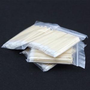 Image 3 - Cotonete de madeira para maquiagem permanente, ponta para cotonete, algodão, madeira, maquiagem permanente, jóias médicas de 7cm, varas limpadas com 100 peças