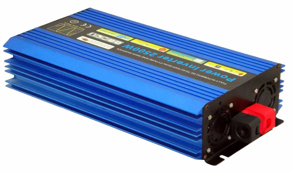 Free Shipping For Brazil And Russia 2500W DC TO AC Car Power Inverter For Wind Turbine System Off Grid Solar
