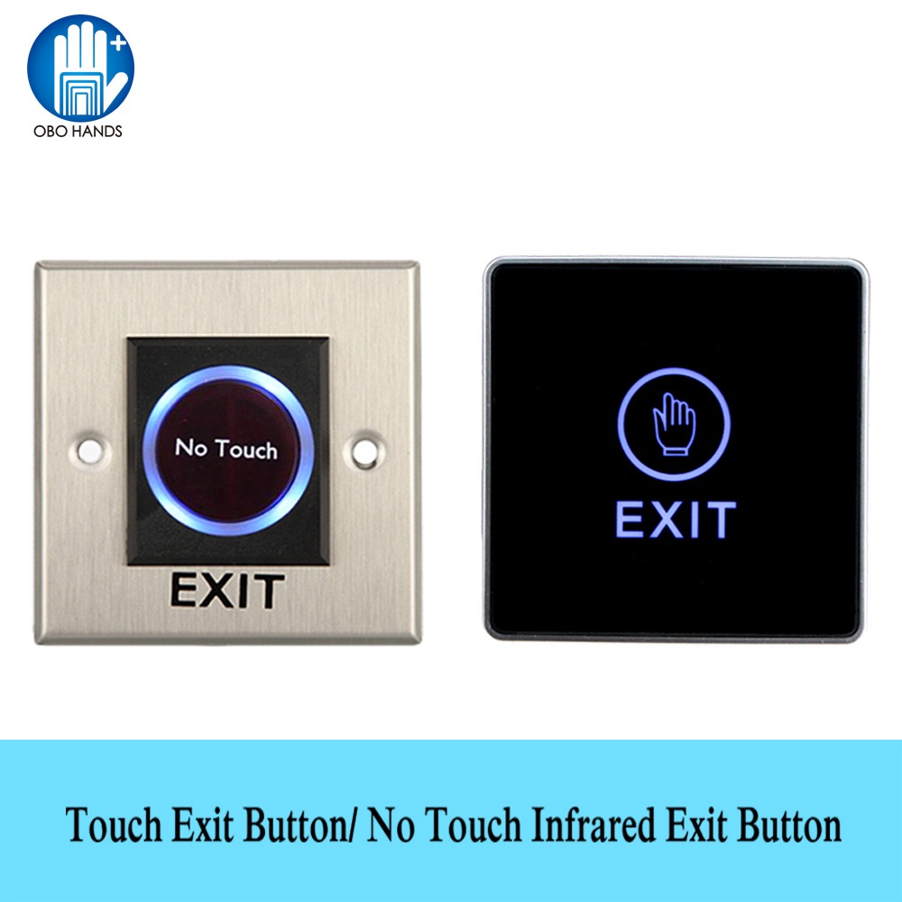 OBO HANDS No Touch IR Infrared Switches Touch Exit Button Contactless Push Release for Home Door Access Control Lock System diysecur infrared contactless bule backlight touch exit button door release switch for access control free shipping