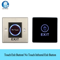 OBO HANDS No Touch IR Infrared Switches Touch Exit Button Contactless Push Release for Home Door   Access     Control   Lock System