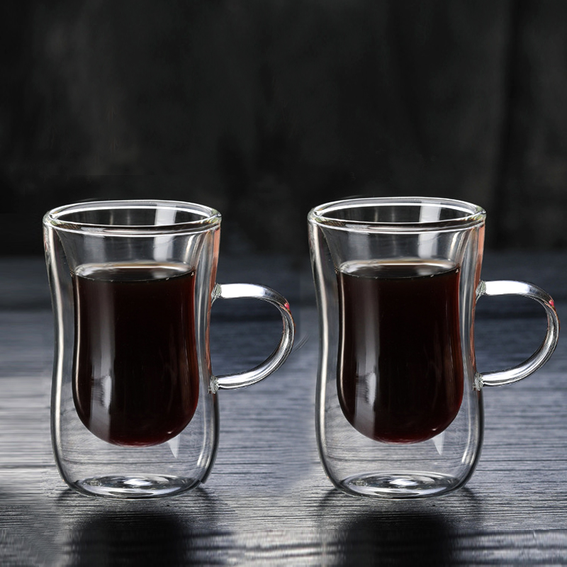 Cup Mug Layer Glass Cafe 2pcs In Homeamp; 80ml 66 With Cups Handle Espresso Mugs 38Off From Us10 European Double Style Coffee W9IYbeHED2