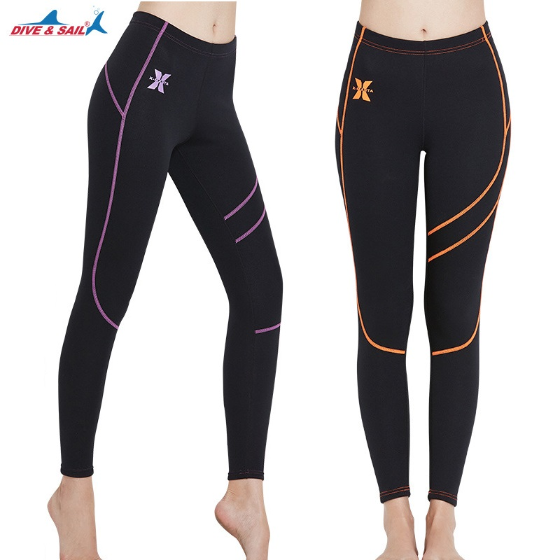 1.5MM 3MM Women Neoprene Wetsuit Pants Winter Swimming Surfing Scuba Diving Snorkeling Anti-UV Ankle-Length Warm Long Pants ankle length pleated pants