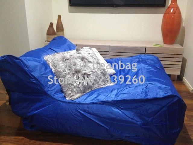 Cobrem apenas No Filler-espreguiçadeira cadeira do saco de feijão sala de estar, extra largo beanbag assento do sofá à prova d' água em azul Cobalto