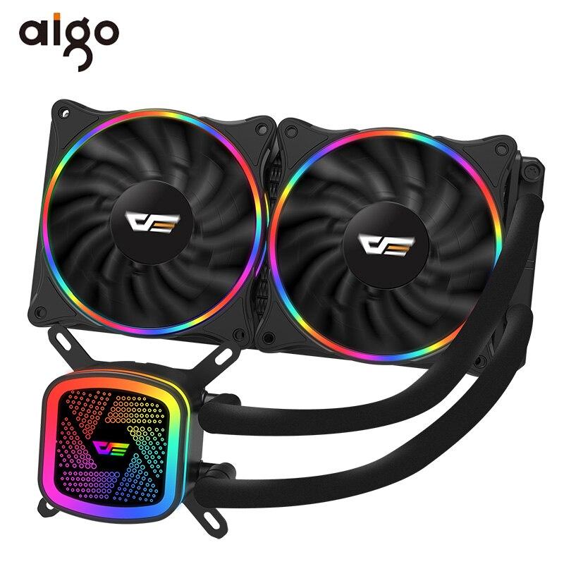 Aigo PC Cas L'eau De Refroidissement processeur d'ordinateur Ventilateur T120/240 refroidisseur d'eau Dissipateur Intégré radiateur à refroidissement à l'eau Intel/AMD Soutien